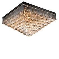 NEWPORT 31133/PL black+gold , Потолочный светильник, Black+gold Clear crystal 110*110*H58 cm E14 33*60W(М0055009)