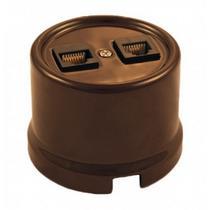 Телефонная розетка коричневый керамика BIRONI В1-301-02