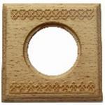 Рамка одноместная квадрат натурэль дерево BIRONI BF4-610-103