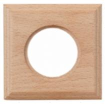 Рамка одноместная квадрат натурель дерево BIRONI BF4-610-10