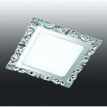 357281 NT16 282 белый/хром Встраиваемый светодиодный светильник IP20 45LED 9W 220-240V PEILI