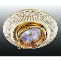 370016 NT15 117 белый/золото Встраиваемый светильник IP20 GX5.3 50W 12V VINTAGE