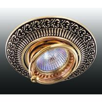 370017 NT15 117 коричневый/золото Встраиваемый светильник IP20 GX5.3 50W 12V VINTAGE
