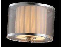 NEWPORT 1600 Абажур к 1601/FL , Двойной серебристый / белый плиссированный внутри(М0056423)
