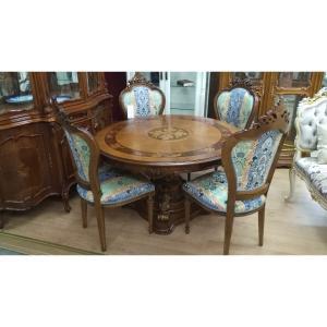 стол + 4 стула Италия