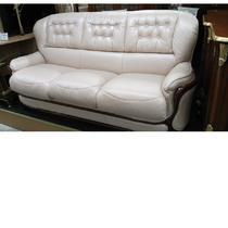 диван 3-х местный бежевая кожа с раскладушкой
